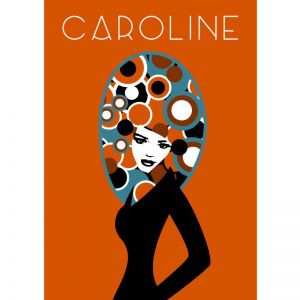 Caroline Poster | ​Custom designed for Charlotte and Josh | by Design by Mouse