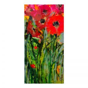 Cartel Poppy Original Resin Painting