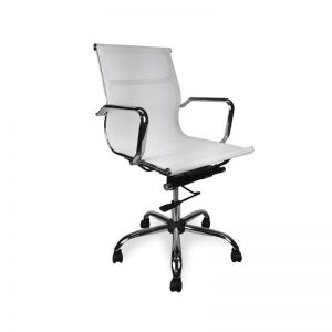 Carter Low Back Office Chair | White Mesh