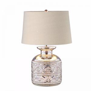 Casablanca Silver Glass Table Lamp | by Black Mango