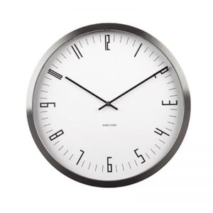 Cased Index Wall Clock | Steel White | CLU Living