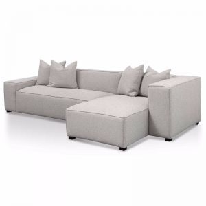 Casey 3 Seater Right Chaise Fabric Sofa | Sterling Sand