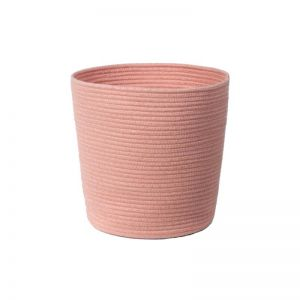 Casey Woven Planter Cover | Pink | CLU Living