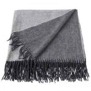 Cashmere Mix Throw   Charcoal/Grey