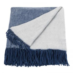 Cashmere Mix Throw   Ink/Eggshell