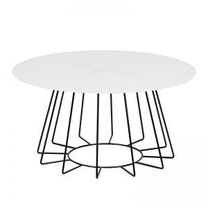 Casia Glass Coffee Table | 80cm | White