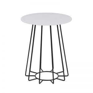 Casia Side Table | 40Cm | White