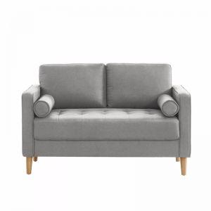 Cassandra 2 Seater Sofa Loveseat | Light Grey