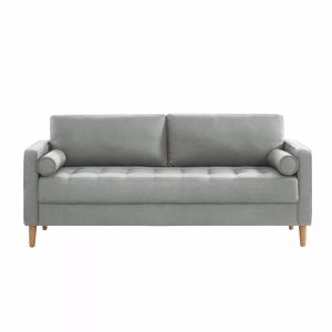 Cassandra 3 Seater Sofa Couch | Light Grey