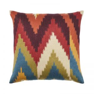 Cassia Embroidered Cushion | by Weave Home