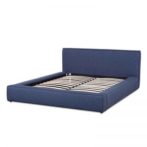 Castillo Fabric King Bed Frame | Arctic Blue