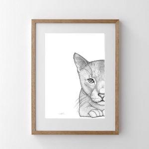 Catherine the Cat   Print