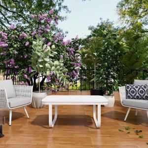 Cattleya Aluminium Outdoor Balcony Set | 2 Seater