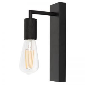 Cattrall 1 Light Wall Bracket in Black | By Beacon Lighting