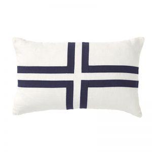 Cayman Cross Rectangular Linen Cushion   CLU Living