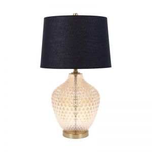 Cecil Table Lamp | Amber/Black
