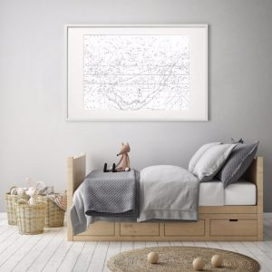 Celestial Star Map White | Print | Stretched Canvas or Printed Panel