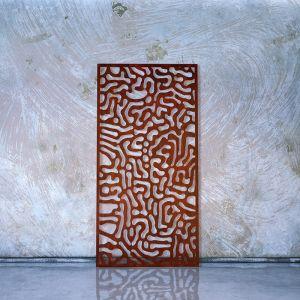 Cell Decorative Laser Cut Privacy Screens | by Lump Sculpture Studio