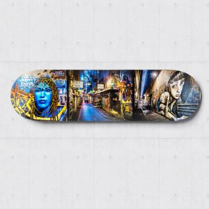 Centre Place | Skateboard Deck Wall Art | Street Art Photography | Blue Herring