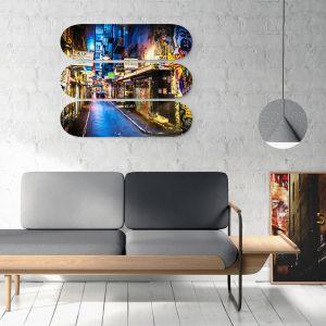 Centre Place Triptich | Skateboard Deck Wall Art | Street Art Photography | Blue Herring