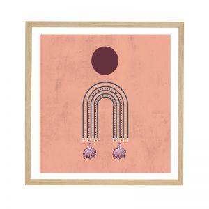 Ceramic Earring Pink | Framed Art Print