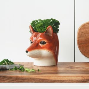 Ceramic Planter | Fox | White Moose