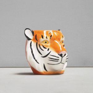 Ceramic Planter | Tiger | White Moose