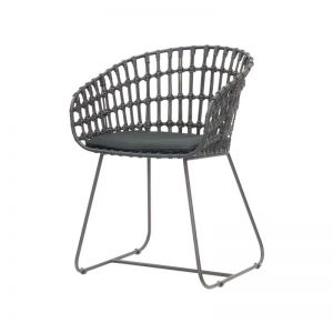 Cesta Dining Arm Chair | with Cushion by SATARA