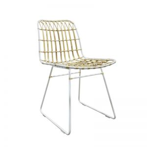 Cesta Dining Chair in Natural or Black | with  Cushion by SATARA