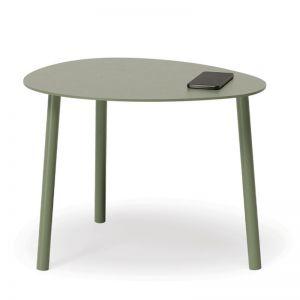 Cetara Outdoor Side Table | Matt Pale Eucalyptus
