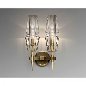 Chaillot Brass Double Wall Sconce Replica