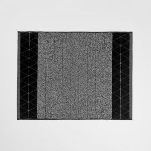 Chambray Border Bath Mat | Black by Aura Home