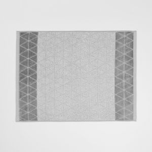 Chambray Border Bath Mat | Dove by Aura Home