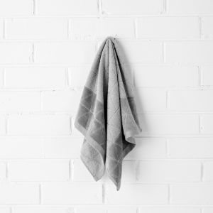 Chambray Border Hand Towel | Dove by Aura Home