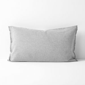 Chambray Fringe Standard Pillowcase | Dove by Aura Home