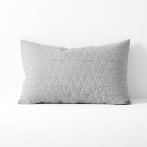 Chambray Quilted Standard Pillowcase | Dove by Aura Home