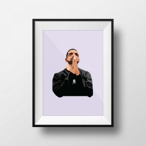 Champagne Papi | Art Print | Framed and Unframed