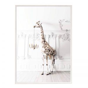 Chandelier Giraffe | Framed Art Print