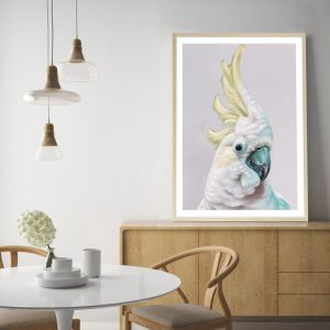 Charlie The Cockatoo (Ice) Premium Art Print (Various Sizes)