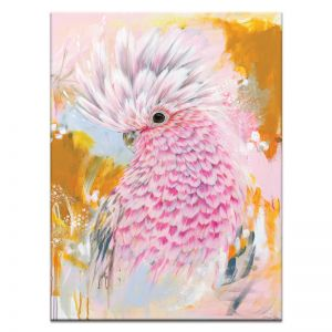 Charlie The Galah | Amanda Skye-Mulder | Canvas or Print by Artist Lane