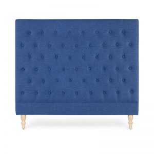 Charlotte Chesterfield Bedhead | Double | Navy | by Black Mango