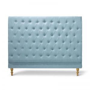 Charlotte Chesterfield Bedhead | Double | Teal | by Black Mango