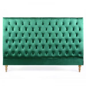 Charlotte Chesterfield Bedhead | King | Emerald | by Black Mango