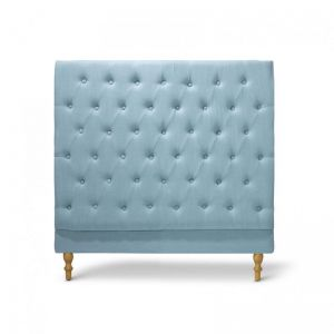 Charlotte Chesterfield Bedhead | King Single | Teal | by Black Mango