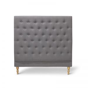 Charlotte Chesterfield Bedhead | King Single | Wolf Grey| by Black Mango