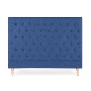 Charlotte Chesterfield Bedhead | Queen | Navy | by Black Mango