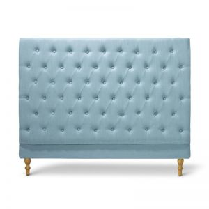 Charlotte Chesterfield Bedhead | Queen | Teal | by Black Mango