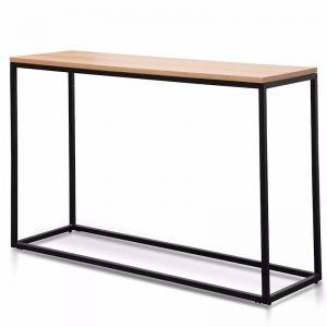 Chelsa 1.2m Natural Wood Console Table | Black