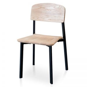 Chelsea Dining Chair | Matt Black | Natural Seat | Interior Secrets