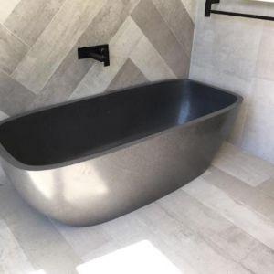 Chelzea Grey Terrazzo Stone Bath 1600